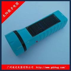 批發太陽能手電筒 逐光017