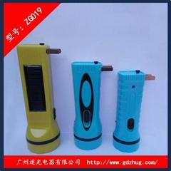 太陽能塑料手電筒 逐光019