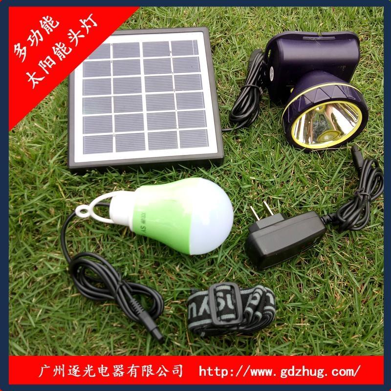 廣東廠家專業生產太陽能光伏板充電頭燈 1