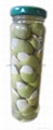 olives stuffed with almond in jar
