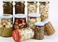 pickled garlic in jar