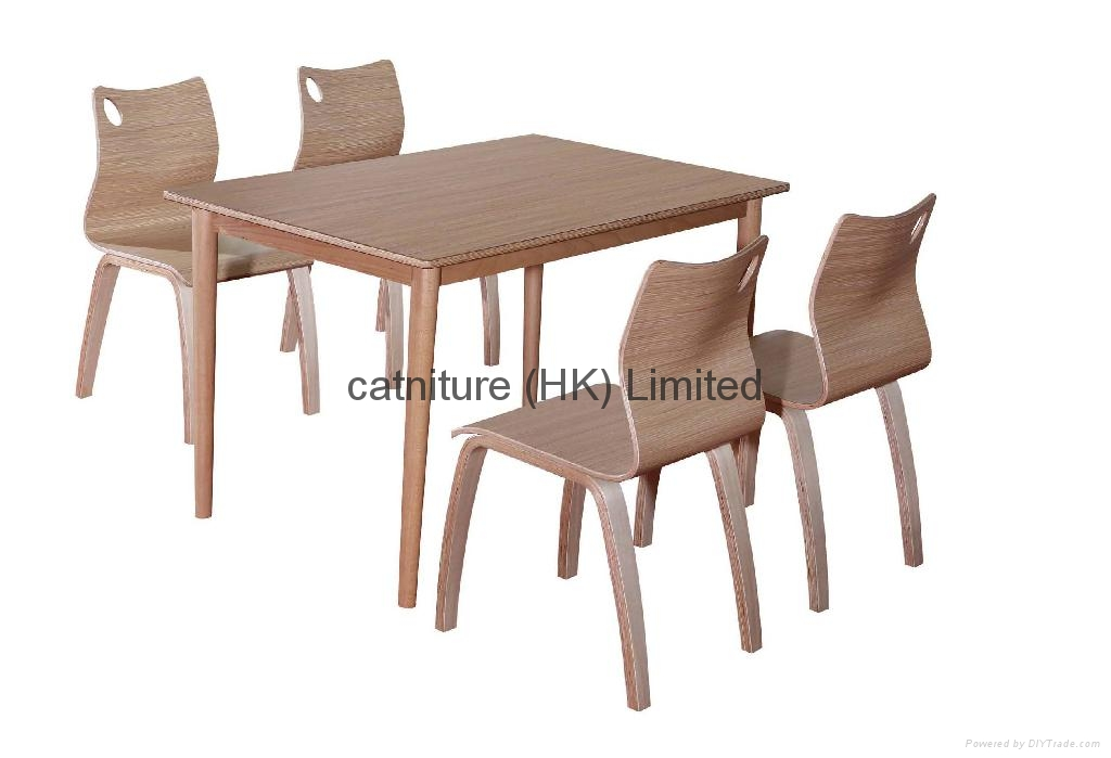 2014 wooden dining room dining table and chair set 5
