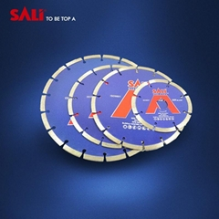Diamond saw blade for cutting concrete and granite and cutting disc