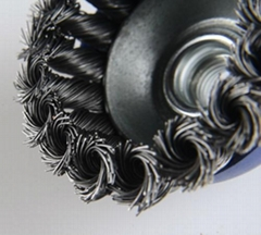 "4"" twist wire cup brush and polishing wire cup brush"