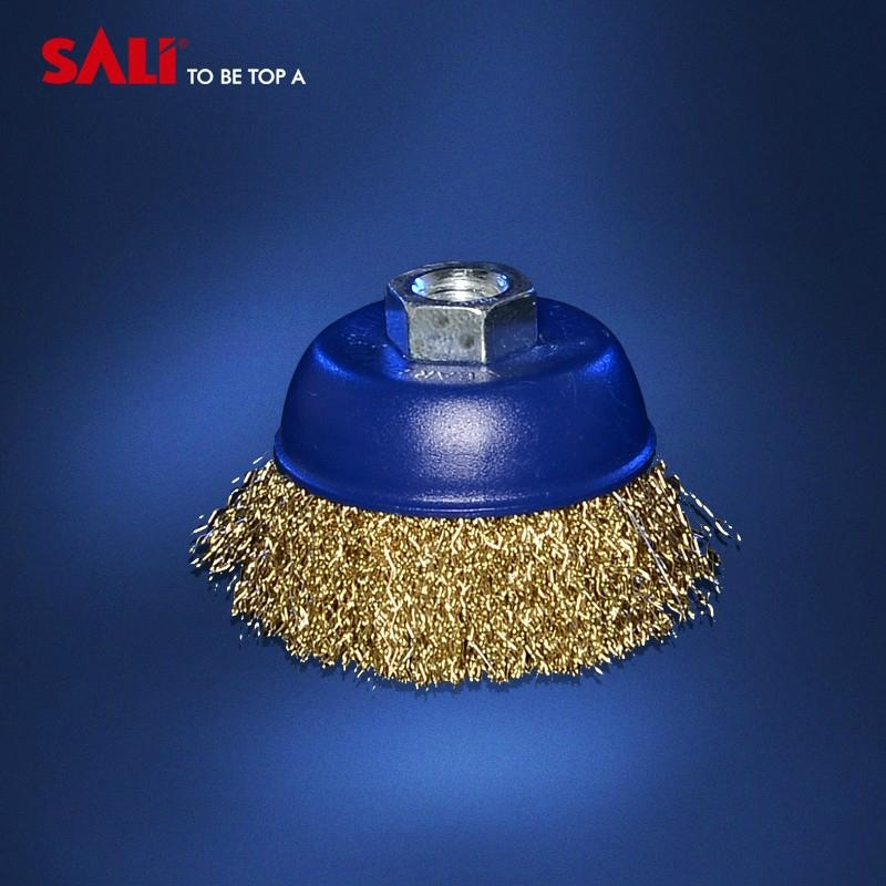 """4"""" brass wire cup brush and polishing wire cup brush 4"""