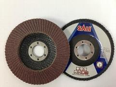 "T27 4"" Aluminum Oxide flap disc abrasive tools"