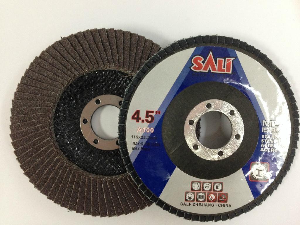 "T27 4"" Calcined Alumina flap disc abrasive tools 1"