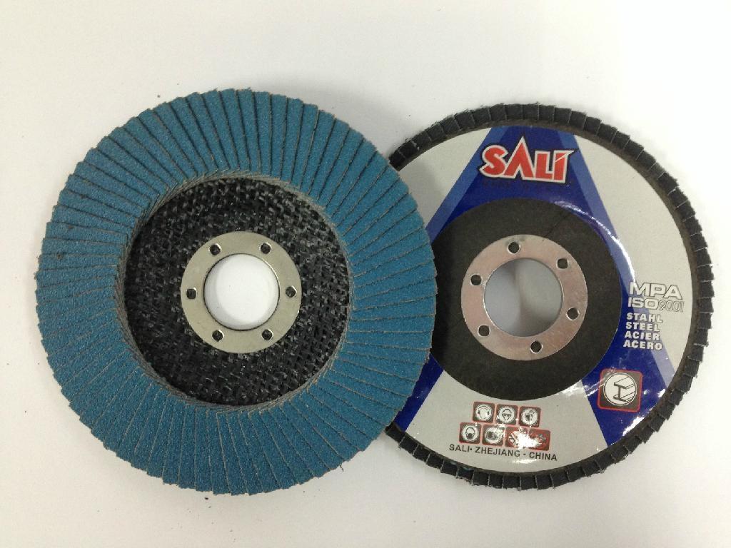 "T27 4"" Zirconia Alumina flap disc abrasive tools 1"