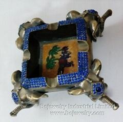 enamel metal trinket box jewelry cases