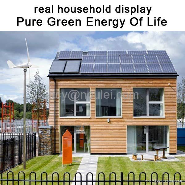 Home-use Hybrid Wind Solar turbine 1kw+300w 2