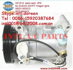 SS10V4 car/ auto air ac compressor seiko seiki for SUZUKI SWIFT /Wagon Ignis 952