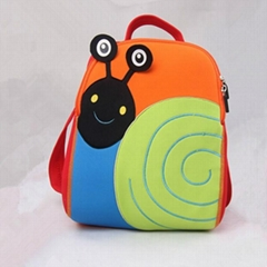 Snail children school bag