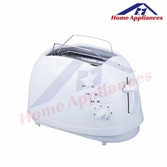 hot sale 2 slice long slot plastic toaster with A13