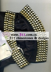 311 collar hot-fix heat transfer rhinestone motif design