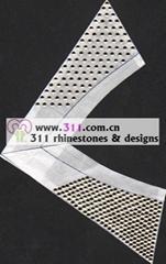 311 collar hot-fix heat transfer rhinestone motif design2