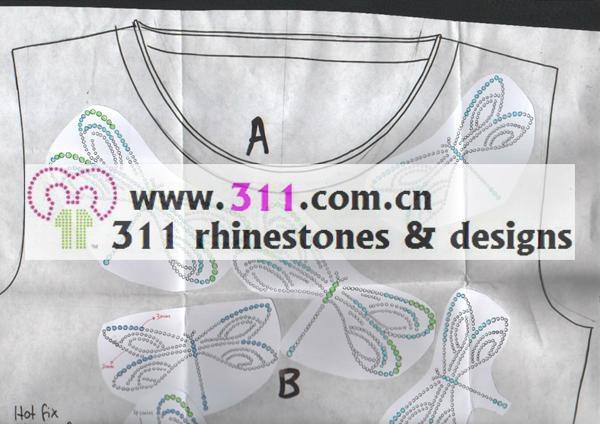 蜻蜓燙圖燙鑽燙片 1