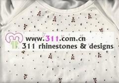 311 front hot-fix heat transfer rhinestone motif design1