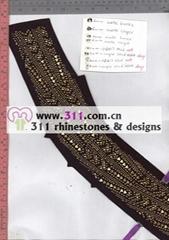 311 nailheads rhinestuds hot-fix heat transfer rhinestone motif design 1