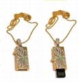 jewelry usb flash drive with neckless