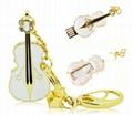 violin shape usb flash disk for gift