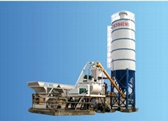 latest HZS 35 concrete mixing plant