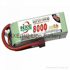 RC Lipo 35C 8000mah 22.2v 6s Battery for helicopter-NXE Power