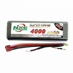 NXE Power Hard Case for rc car 4000mah 35c-2s2p lipo battery