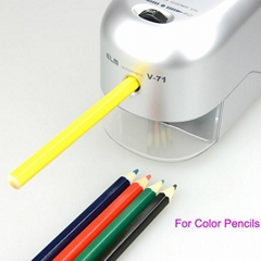 Heavy Duty Electric Crayon Pencil Sharpener with Receptacle