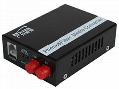 广州敏思网络OM-T01单路电话光端机