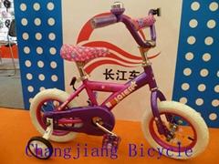 配置簡單的女孩儿儿童自行車