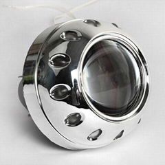 Bi-xenon projector lens for car headlight with angel eyes