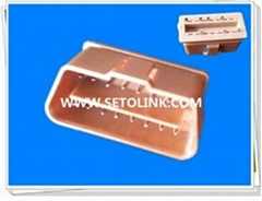 GOLDEN PLATED 16 PIN MALE CONNECTOR J1962 MALE OBD CONNECTOR