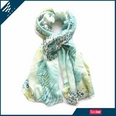 Fashion soft paisley printed scarf - HEFT scarves and shawls