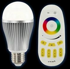 高亮室内照明遥控七彩变色LED球泡灯