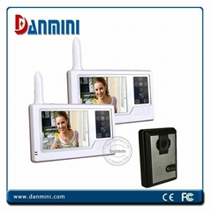 Wireless video door phone intercom access control system