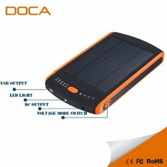 DOCA high capacity 23000 mAh DS23000 solar charger for samsung iphone