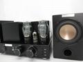 Vacuum Tube Bluetooth Amplifier with Wood Speakers set 3