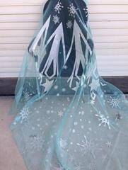 frozen elsa snowflake fabric