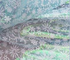 Colorful snowflake fabric