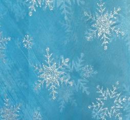 blue snowflake fabric 1