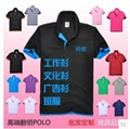 广州220克双面珠地广告衫