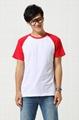 莱卡弹性布料 插肩拼色广告T恤衫 3