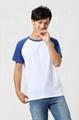 莱卡弹性布料 插肩拼色广告T恤衫 4