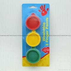 3色可洗手指彩
