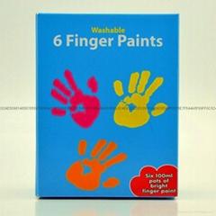 6色可洗手指畫顏料
