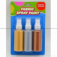 3色60毫升金屬可噴紡織手繪顏料