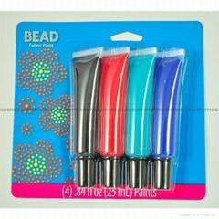 4色25毫升普通紡織手繪顏料