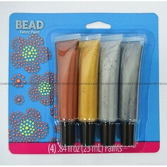 4色25毫升金屬珍珠筆紡織手繪顏料