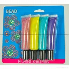 4色25毫升幻彩紡織手繪顏料
