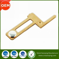 Small Precise Electronic Parts custom electric metal stamped contact